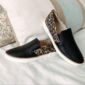 Naturalizer Cheetah Print Leather Slip-On Sneaker